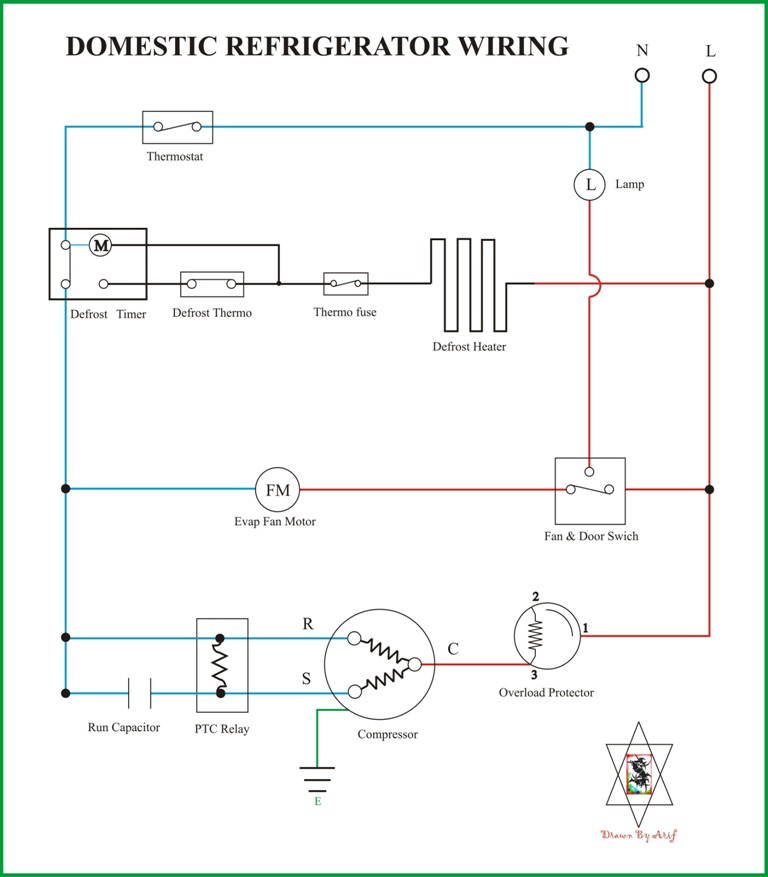 referigrator wiring wiring diagram kulkas secara umum refrigeration & air conditioning wiring diagram for refrigerator at gsmx.co